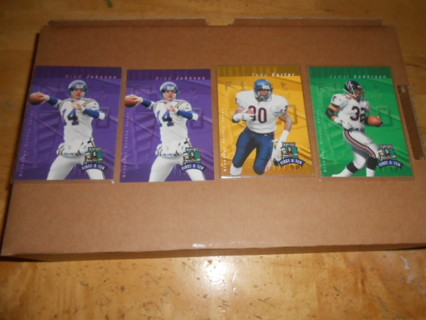 Lot of 4 Playoff Football Cards