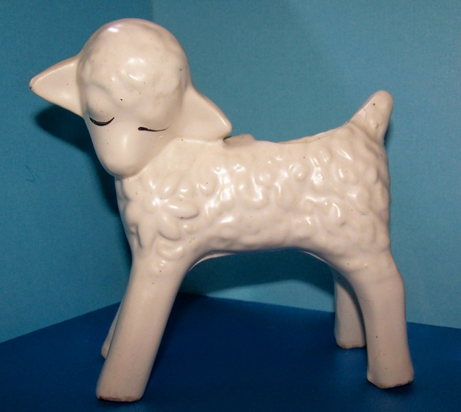 Free Vintage Antique 1920s Mccoy Pottery White Lamb