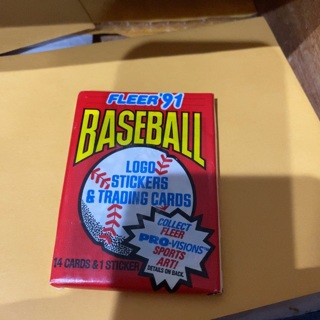 1991 fleer unopened pack of baseball cards