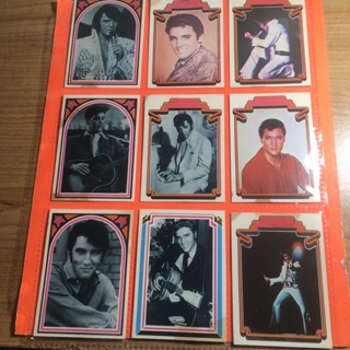 9 Elvis 1978 Boxcar Cards!
