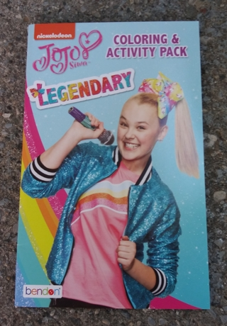 SMALL COLORING AND ACTIVITY BOOK JOJO SILVIA LEGENDARY WITH STICKERS USE YOUR OWN CRAYONS