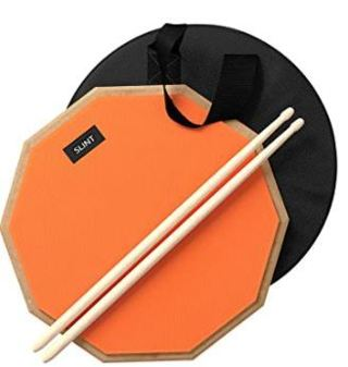 Practice Pad & Drum Sticks Bundle - Drum Pad Double Sided with Drumsticks and Drum Bag
