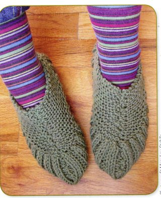 Free Triangle Slippers Knitting Pattern Knitting Listia