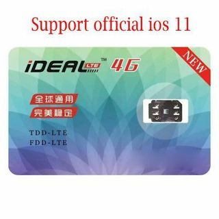 Ideal II Unlock Turbo SIM Card for iPhone X 8 7 6s 6 Plus 5s SE 5 LTE GPP R