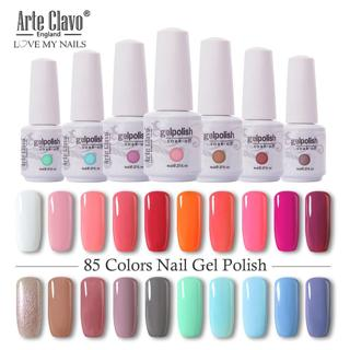 Arte Clavo 8ml Nail Polish Nail Gel Soak off LED UV Hybrid Gel Lacquer Nail Primer Gel Varnish Red
