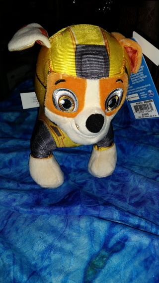 "Paw Patrol Plush ""Rubble"" Dog Figure - US Seller!"