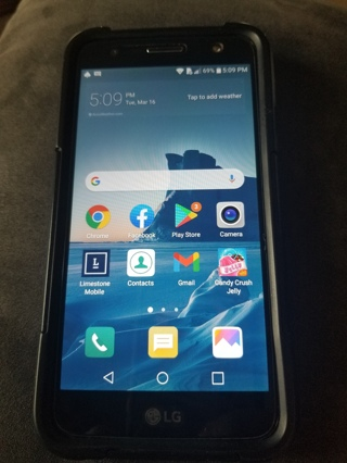 LG -M327 Smart Cell Phone Works Great