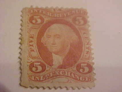 1862 71 005 Cents Inland Exchange Internal Revenue Stamp Scotts R27