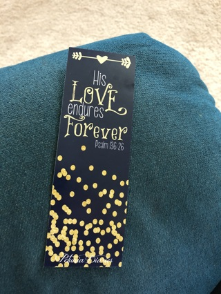 Beautiful blue and gold bookmark