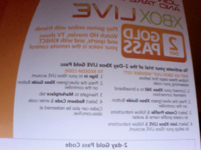 Free: xbox live 2 day (48 Hour) trial card code - Video Game Prepaid