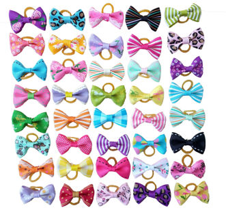 10Pcs Assorted Hair Bows For Small Dog Cat Pet