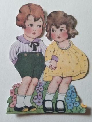 Large Vintage Couple Cutout, #0310