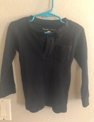 Planet Cotton 2T with Pocket Long sleeve shirt, excellent condition