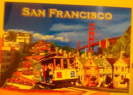 San Francisco postcard - unused, blank on back