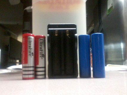 Lithium-Ion Batteries w/Charger