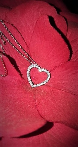 Rose Gold Silver Heart Necklace