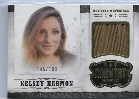 2015 Country Music Musician Materials Gold #19 Kelsey Harmon 145/199