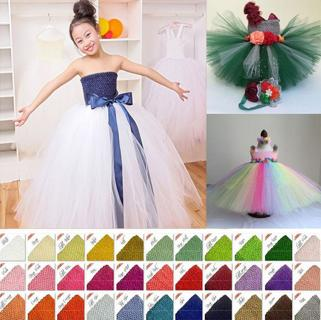 "9"" Baby Girl Crochet Tutu Tulle Tube Elastic Tops Wrap DIY Tutu Skirt Clothes"