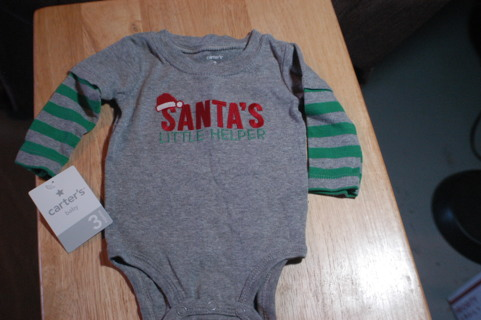 Sweet Little Boys Christmas Shirt by Carters