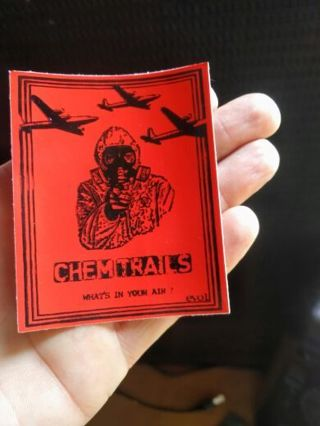 Chemtrails sticker