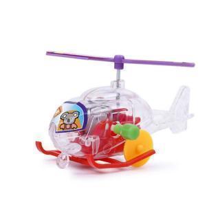 Children Winding Clockwork Airplane Transparent Mini Plane Wind Up Toy RR6 06