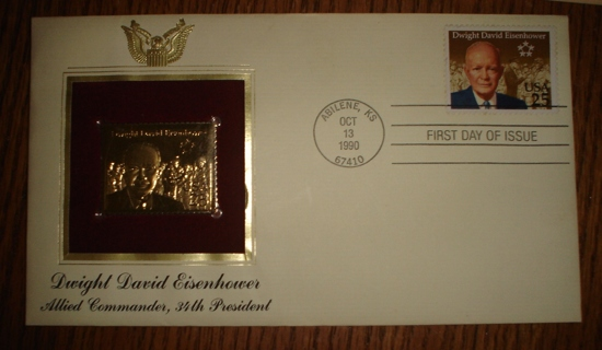First Day Of Issue Eisenhower Stamp