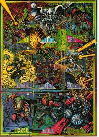 1993 Marvel 9 Card Lot The Hulk ETC...
