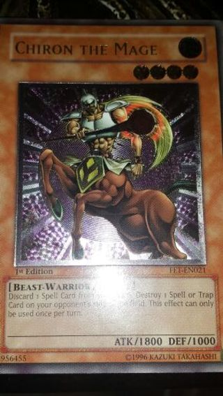 Free: Yugioh Chiron the Mage 1st Edition (Ultimate Rare) Tribe