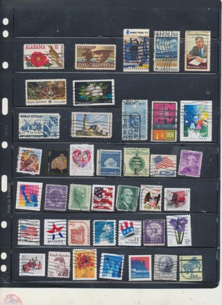 (40+5 Bonus) Great Stamps from The United States,  All Different, Vintage, Used, Cancelled - US-1026