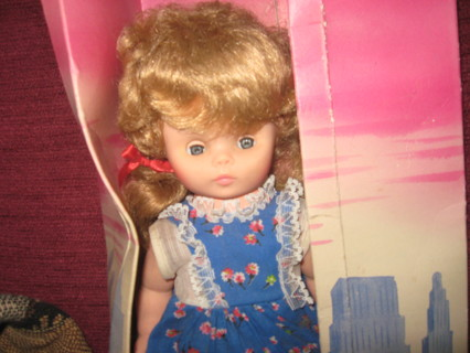 Vintage doll with box