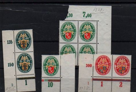 early german Reich - unused blocks of 1 2 and 4 * L@@K