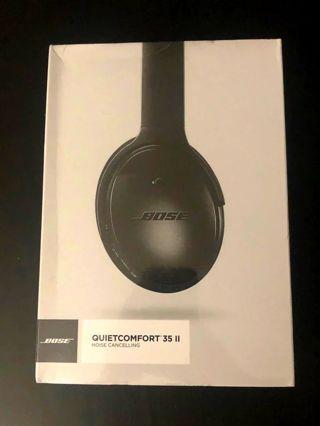 "Bose Quiet Comfort 35"" ll Black Headphones, Brand New Factory Sealed, Read Below!"