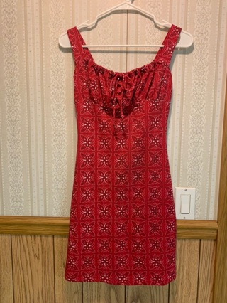LIKE NEW! RED PATTERN DRESS FROM VENUS