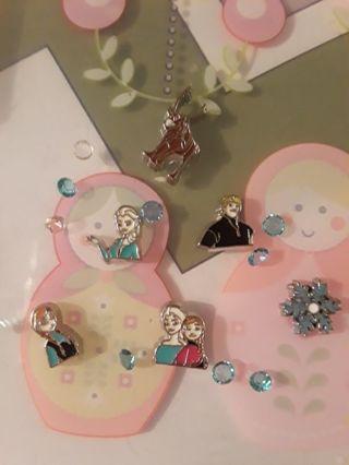 Lot of FROZEN living memory locket charms DISNEY ELSA ANNA REINDEER SNOWFLAKE