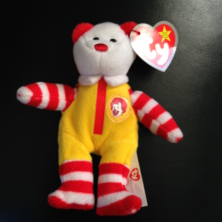 FREE  McDonalds TY Teenie Beanie Baby Collectables - Ronald McDonald the  Bear 79fffaca707