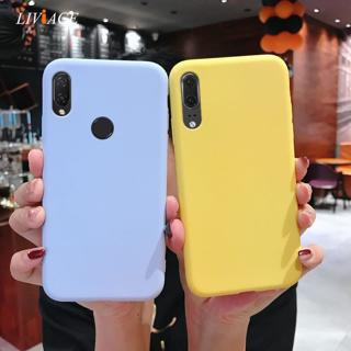 solid candy color silicone case on for huawei p20 lite p20lite p20 pro yellow girl cute tpu phone