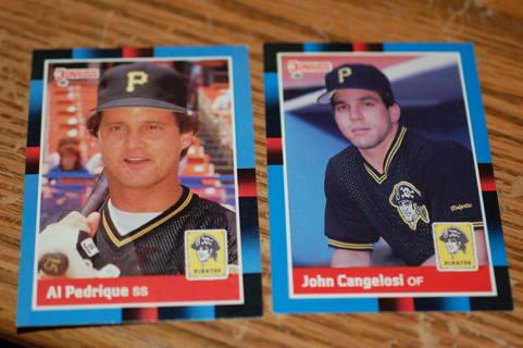 Set of 2 Pittsburg Pirates Baseball Cards 1988 Donruss