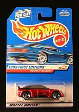 Hot Wheels Pontiac RAGEOUS Metallic RED 1999 First Editions Series #7
