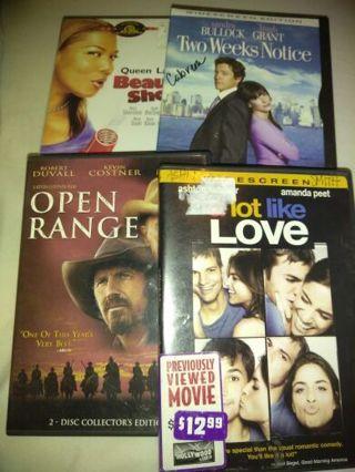 Four Movie DVD Lot