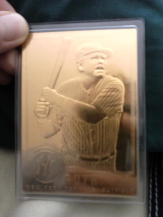 Free Look 22k Gold Plated Baseball Cards Babe Ruth Sports