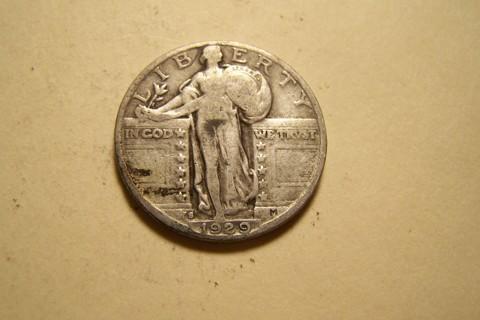 Silver 1929-S Standing Liberty Quarter