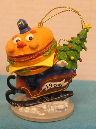 Mcdonalds Christmas Ornament.Free L123 1995 Mcdonalds Christmas Ornament 1968 First Big Mac