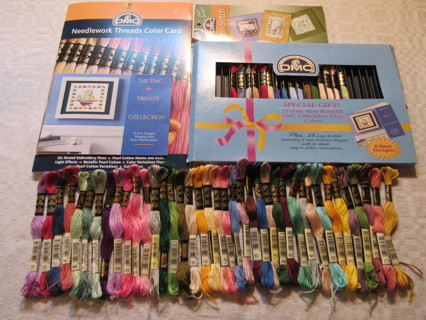 DMC Embrodiery Floss, DMC Color Booklet & Small Patterns
