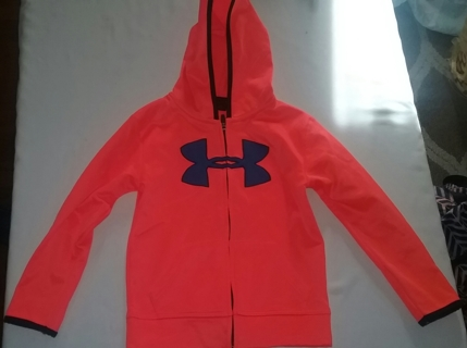 Brand New Boy's Under Armour Hoodie Zip Up Jacket Size Small(6)