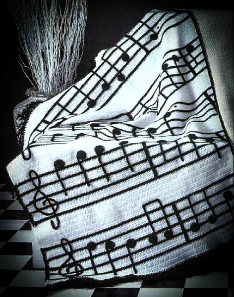 Free: Piano Notes Crochet Afghan Pattern - Crochet ...