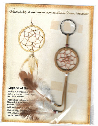 Legend of the Dreamcatchers Small Brown Dream Catcher NEW IN PACKAGE