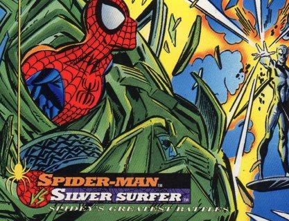 1994 Spider-Man: Collectible/Trade Card: Spider-Man vs Silver Surfer