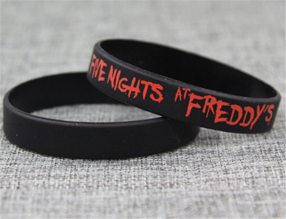 1 Five Nights at Freddy's Wrist Band BLOODY LOGO bracelet wristband Video Game JEWELRY