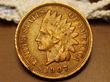 ***WOW RARE*** HIGHER GRADE 1907 INDIAN HEAD CENT,PARTIAL LIBERTY/FULL RIMS,108 YRS OLD