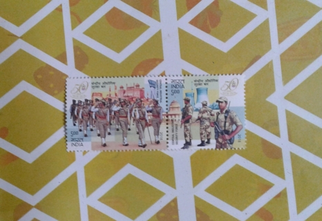 C.I.S.F : An important paramilitary force in INDIA ...now on stamps